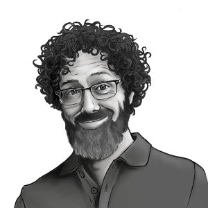 black and white portrait of Gabriel Robinson