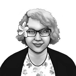 black and white portrait of Natalie Ash